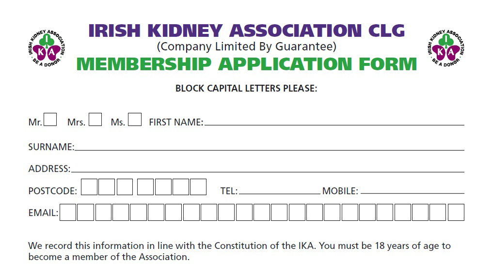 DOWNLOAD AN IKA MEMBERSHIP FORM