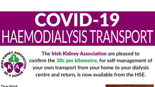 COVID-19 HAEMODIALYSIS TRANSPORT