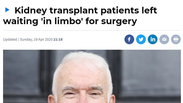 Kidney transplant patients left waiting 'in limbo' for surgery